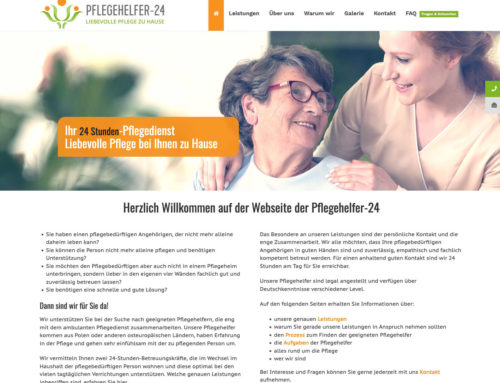 Webdesign Pflegehelfer-24