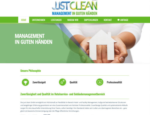 Webdesign justclean GmbH