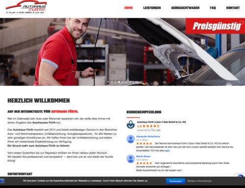 Webdesign Autohaus Fürth