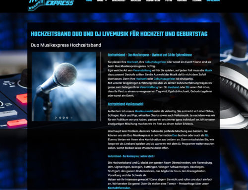 Webdesign Musikexpress