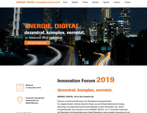Webdesign Energie. Digital. Innovation Forum