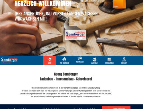 Webdesign Ladenbau Samberger
