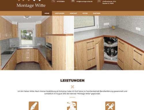 Webdesign Montage Witte