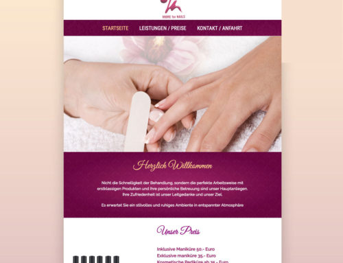 Webdesign more for nails