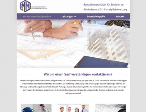 Webdesign Sachverständigenbüro